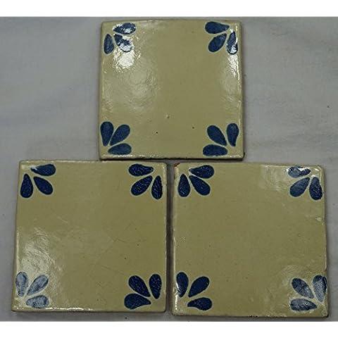 Talavera messicano per piastrelle in ceramica, dipinta a mano, in piastrelle ref.R47 Terracotta messicana, 10,5 (Ceramica Talavera)