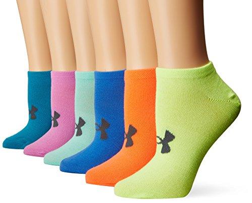 Under Armour Women's Uaw Solid 6 Pks No Show Socks