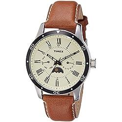 Timex E Class Analog Beige Dial Men's Watch-TWEG14701
