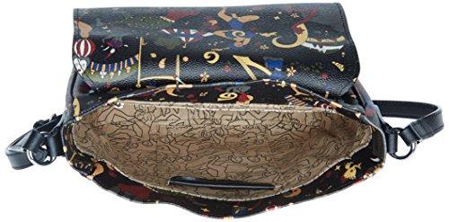 piero guidi 217924088, Borsa a Tracolla Donna, 24 x 21 x 9,5 cm (W x H x L) Nero (Nero Profondo)