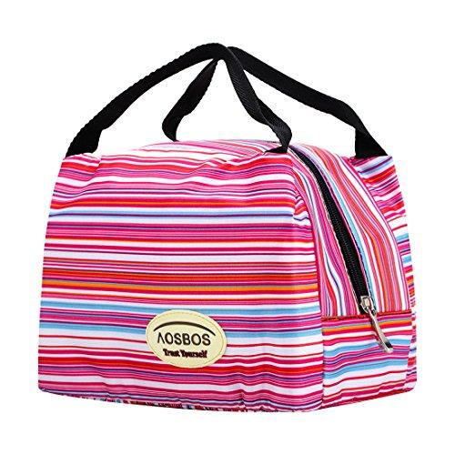 Image of Aosbos Leichte Kühltasche Lunch Tasche Isoliertasche zur Arbeit und Schule gehen 6 Liter, 24,1 x 15,2 x 17,11 cm