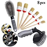 Fansport Cleaning Detailing Brush Kit Boar Hair Brushes Detailing Brush Set Cleaning Automotive