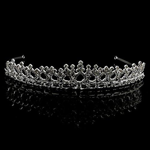 Bandas para Cabeza Cristal De Diamante De Imitación Boda Nupcial Corona Venda De Joyería Del Pelo De Tiara