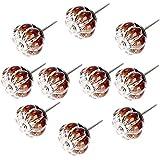 FBSHOP(TM)) - 10 Unidades de pomos para Puerta de Estilo rústico con Forma de Calabaza de Leopardo de...