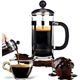 Veena 350Ml French Coffee Pot 350Ml 3 Cup Stainless Steel Glass Cafetiere French Filter Coffee Press Plunger