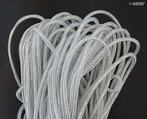 Argent décoratif élastique tubulaire crin lightweigth Tube creux–7mm x 35m