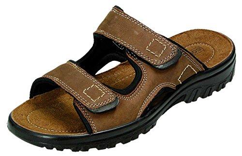 Herren Pantolette braun CORT-LAND Indian Größe 40 bis 45 aus Leder Braun