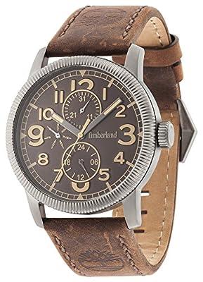 Timberland Erving Hombre Reloj de cuarzo con Esfera Marrón Pantalla Analógica y correa de piel color marrón 14812jsu/12 de Timberland
