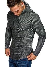 Amaci Sons Oversize Vintage Kapuzenpullover Herren Pullover Hoodie  Sweatshirt Crew-Neck 4020 aaf57d153f