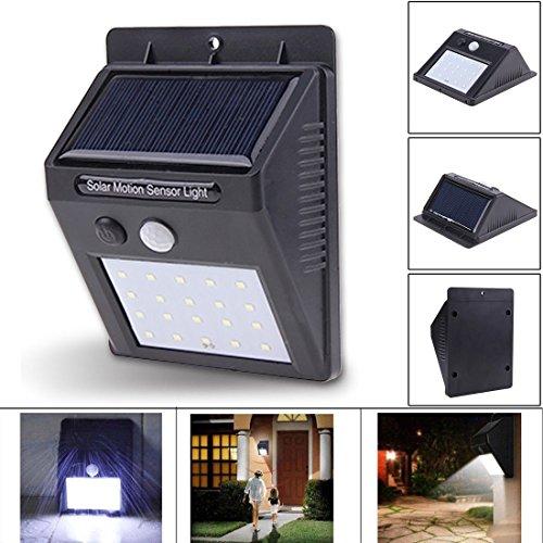 B-Creative 20 LED Solar Powered PIR Bewegung Sensor Sicherheit Wandleuchte Outdoor Garten Lampe (Motion-lampe Creative)