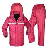 Outdoor peak Erwachsenen wasserabweisend Regenanzug Jacke & Hose Regenjacke Regenkombination Regencape Regenbekleidung Raincoat Nässeschutz starke Qualität