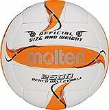 Trainingsball, Weiches Synthetik-Leder, Handgenäht - Farbe: Weiß/Orange/Silber, Größe: 5
