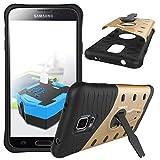Samsung Galaxy S5 i9600 Custodia, TOTOOSE Hybrid Combo Resistente agli urti Armatura Protettiva Caso Copertina con 360 Gradi Rotante Kickstand per Samsung Galaxy S5 i9600 d'oro