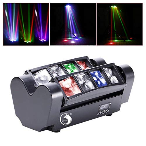 U`King Moving Head, LED Lichteffekt DJ Partylicht Disco Bühnenlicht DMX512 with 8 * 10W RGBW Lichter für Bar Weihnachten Halloween Party