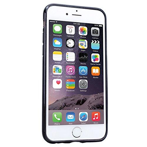 Custodia iPhone 6, Cover iPhone 6S Rosso CE-Link Brillantini Glitters Stelle di Bling Silicone Custodia iPhone 6S Morbido Chiaro Cristallo Ultra Sottile Elastica e Morbida Morbido Placcatura TPU Gel C Argento
