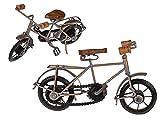 OOTB Deko-Holz/Metall Fahrrad Silber/Antik, ca. 30 x 15 cm # 220149