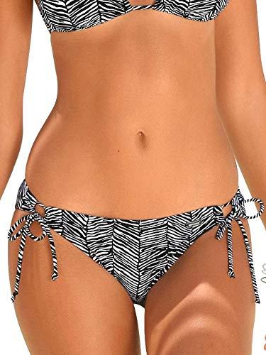 Venice Beach Bikini-Hose Black-White - 42