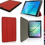 """igadgitz Rot PU Ledertasche Hülle Smart Cover für Samsung Galaxy Tab S2 9.7"""" SM-T810 mit Multi-Winkel Betrachtungs"""