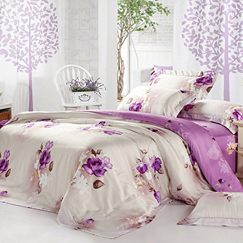dadao-bedclothes-100-double-sided-tencel-four-pieces-of-15m-18m-bed-sheets-quilt-cover-4-pieceswhite