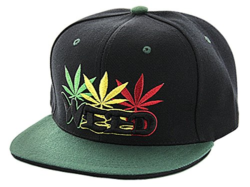 Alsino Snapback Starter Hat Hip Hop Cap Schirmmütze Baseballcap Baseball Mütze Käppi, Variante wählen:Cap-80 Weed