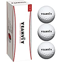 Yeahviy Night Golf Balls,Best Hitting Ultra Bright Long Lasting Reusable Bright Night Glow Golf Ball by Sun light (3 Pack)