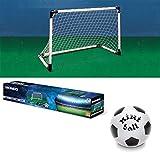Set Porta Calcio Calcetto Pallone Allenamento Rete Sport Gioco Mondo 91,5x63 cm