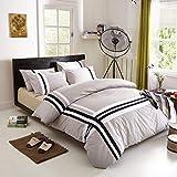 yyygg Baumwolle Mode Gedruckt Bettwäsche Set Komfortable Bettbezug Set Bettlaken Kissenbezug
