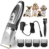 VOONEEN Dog Grooming Clippers, Pet Hair Remover Clippers Rechargeable Cordless Dog Hair Trimmer