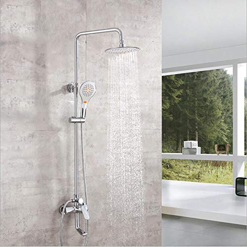 Duschset Moderne Dusche Set DREI Funktionen Kupfer Badezimmer 8-Zoll-Duschbrause + Handbrause + heißen und kalten Wasserhahn