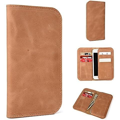 Funda de piel tipo cartera para LG G2Mini/espíritu funda, compatible con LG G2, color marrón