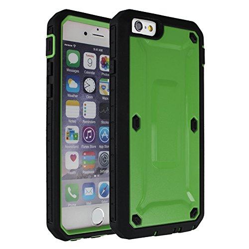 """xhorizon TM ZY Heavy Solide Duty double couche Protection Anti-choc Bouclier Hard / hybride Couverture Etui Coque Housse Case Cover pour iPhone 4.7"""" iphone 6 + xhorizon Stylus & chiffon de nettoyage Vert"""