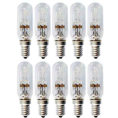10 x Eco Halogen T25 Röhre 42W = 53W E14 klar Glühbirne Dunstabzugshaube warmweiß dimmbar (42 Watt)