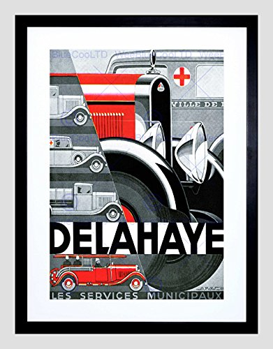 advert-public-service-vehicles-delahaye-tours-france-framed-art-print-b12x4250
