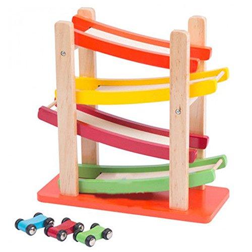 Click Clack Racetrack Wooden Childrens Car Slider Race Track Fun Run Toy