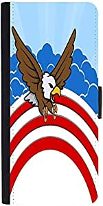 Snoogg Bald Eagle 4Th Of July Vector Theme Design Graphic Snap On Hard Back L...