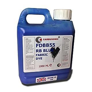 Fabric dye Liquid Fabric Dye, Water based for Clothes, Denim, Batik, Blue1 litre