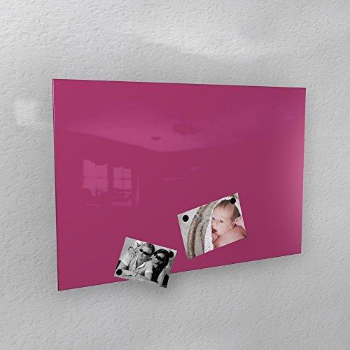 Preisvergleich Produktbild Magnetwand hochglanz pulverbeschichtet - 4 verschiedene Größen - 40 x 60 cm ; 50 x 80 cm ; 60 x 90 cm ; 50 x 110 cm - viele verschiedene Farben *MADE IN GERMANY* (60 x 90 cm,  RAL 4010 telemagenta [wie rosa oder pink])