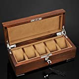 TINERS Vieil Orme 5 boîte de géométrie boîte de Collection d'affichage de Stockage de Bijoux avec Serrure