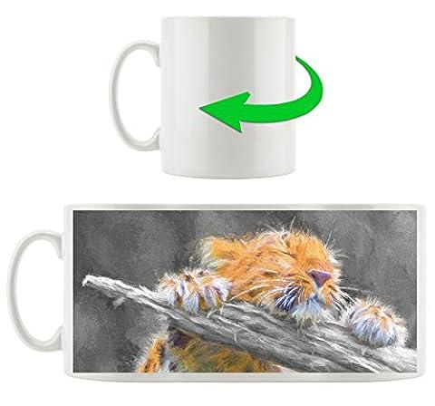 espiègle petit léopard noir peint en blanc tasse / motif en blanc 300ml céramique, Grande idée de cadeau pour toute occasion. Votre nouvelle tasse préférée pour le café, le thé et des boissons chaudes.