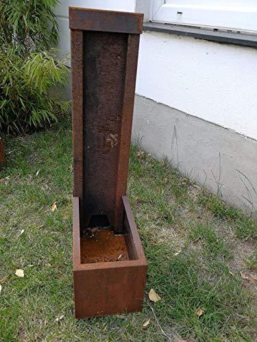 Zen Man Cortenstahl Garten Brunnen Edelrost Garten Wasserspiele H80*40 * 20cm ca. 1,7mm Corten Stahl Handarbeit 101628
