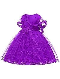 d5c326e49 Kumkey Bebes Bordado Cordón Vestidos Bowknot Tul Niña De Las Flores Niños  Princesa Partido Dama De