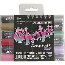 Graph'it Shake Lot de 6 Marqueurs peinture à encre pigmentée Créative