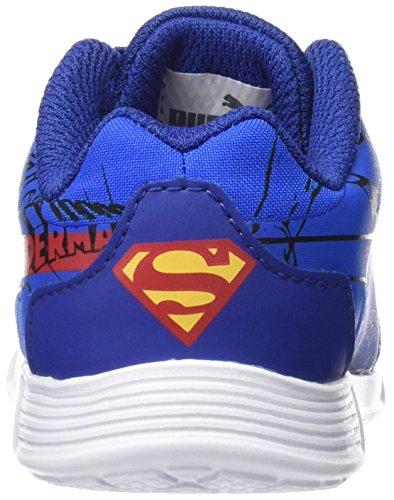 Puma St Trainer Superman, Baskets Basses Mixte Enfant Bleu (Limoges/High Risk Red)