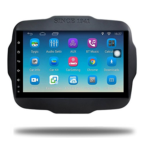 Android 6.0 Car GPS Navi for Jeep Renegade Touch Screen Car Stereo Multimeida Bluetooth Video Car Radio Audio Player Navigation (Android 6.0 for Jeep Renegade 32G)