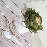 6 personalisierte Rosen Blumen mit Schokolade als Gastgeschenk Platzhalter Tischdeko Danksagung zur Taufe Kommunion Hochzeit Geburt mit Wunschtext Handarbeit binnbonn