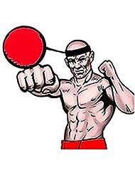Bola de entrenamiento de boxeo (fuibo lucha bola con banda para la cabeza para Reflex Entrenamiento de velocidad boxeo boxeo ejercicio, amarillo