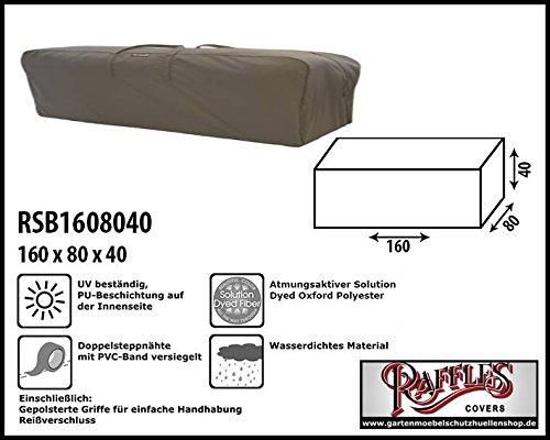 Raffles Covers RSB1608040 Kissentasche für Loungemöbelauflagen Aufbewahrungstasche/Cover für...