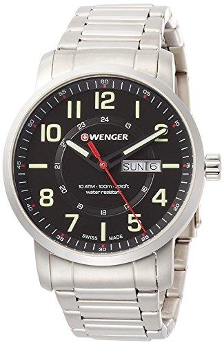 Wenger Reloj Analogico para Unisex de Cuarzo con Correa en Acero Inoxidable 01.1541.102