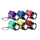 S/O® 6er Pack Schlüsselanhänger Taschenlampe mit Griff Mini LED-Taschenlampe Lampe Taschenlampen Lampen Kinder Kindertaschenlampen