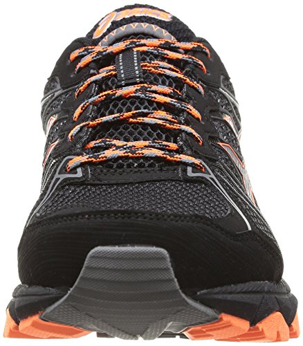 ASICS Gel-Fujitrabuco 3 G-Tx, Chaussures Multisport Outdoor Hommes Noir (Black/Titanium/Orange)